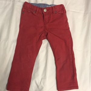 Baby Gap 1969 Boys size 3 slim fit jeans red